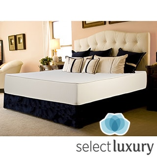 Select Luxury Flippable Medium Firm 10-inch Queen-size Foam Mattress with EZ Fit Foundation
