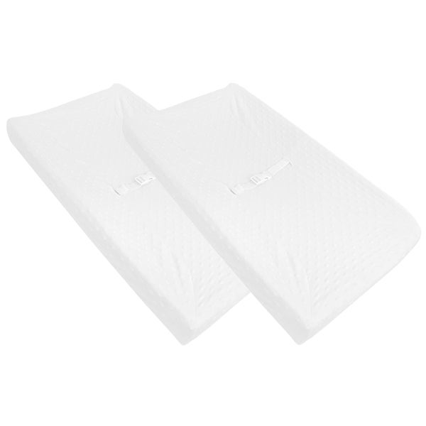 American Baby Company White Heavenly Soft Minky Dot Changing Table Cover (2 Pack) 25194322