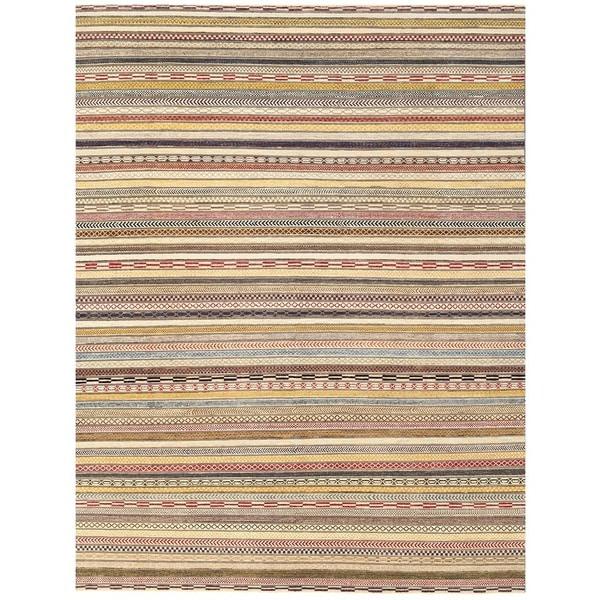 Herat Oriental Afghan Hand-knotted Vegetable Dye Gabbeh Wool Rug (9' x 11'8) 25197070