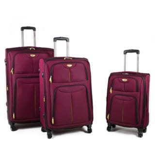 American Green Travel Trooper 3-Piece Expandable Spinner Luggage Set 25200147