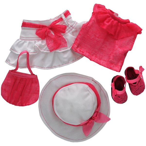 The Queen's Treasures 5-piece Pink Clothing & Accessory Set For 18-inch Dolls 25200176