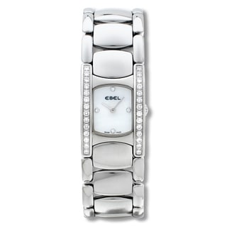 Ebel Beluga Manchette Steel and Diamond Watch