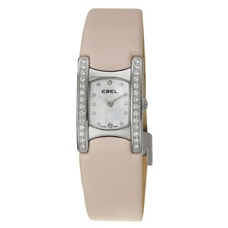 Ebel Beluga Manchette Pink Strap Diamond Watch