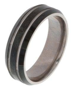 Men's Titanium Black Band (7 mm)