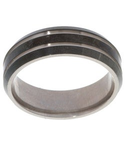 Men's Titanium Black Band (7 mm)