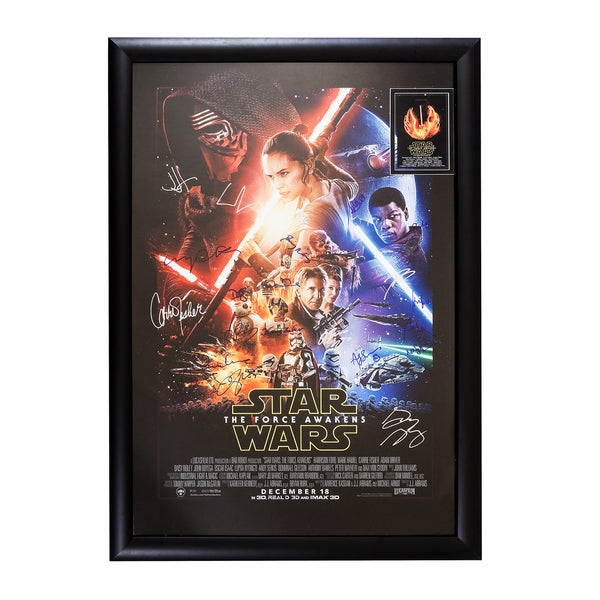 Cast-signed 'StarWars: The Force Awakens' Framed Movie Poster 25260431