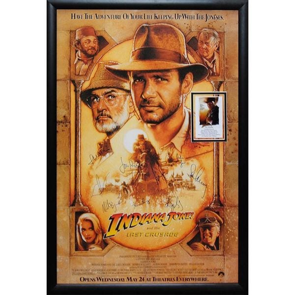 Cast-signed 'Indiana Jones and The Last Crusade' Movie Poster 25261717