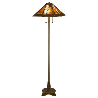 Tiffany-style Aztec Mission Floor Lamp