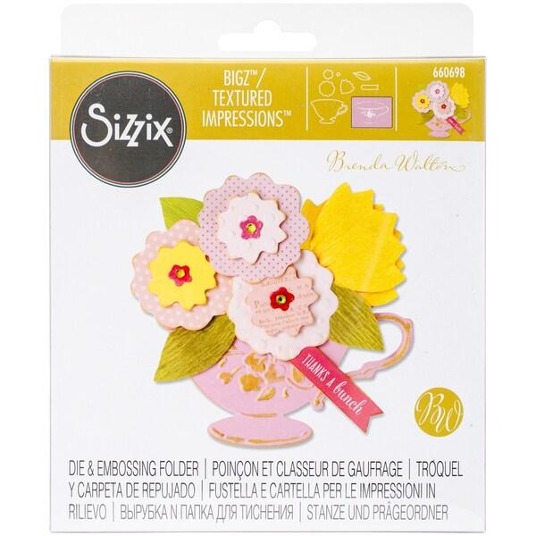 Sizzix Bigz Die W/Bonus Textured Impressions-Tea Cup Bouquet 25277578