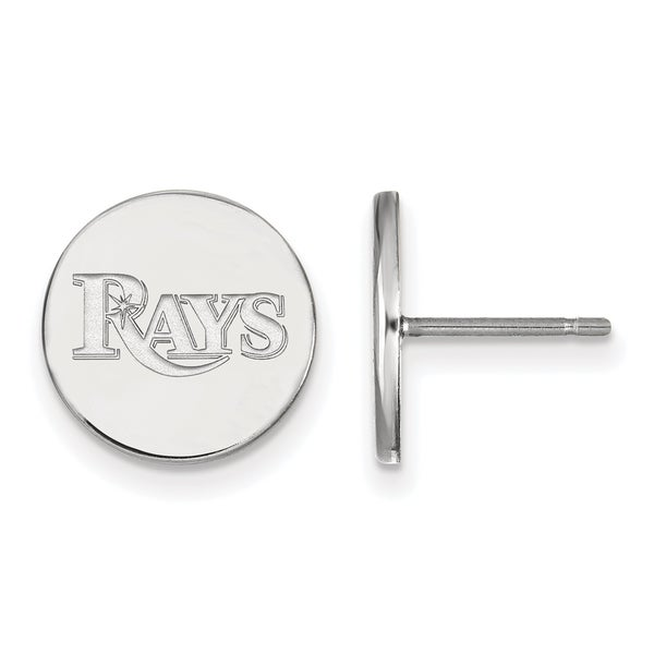 Sterling Silver Tampa Bay Rays Small Disc Earring 25277660