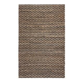 Jani Para Black/Natural Jute and Cotton Rug - 5' x 8'