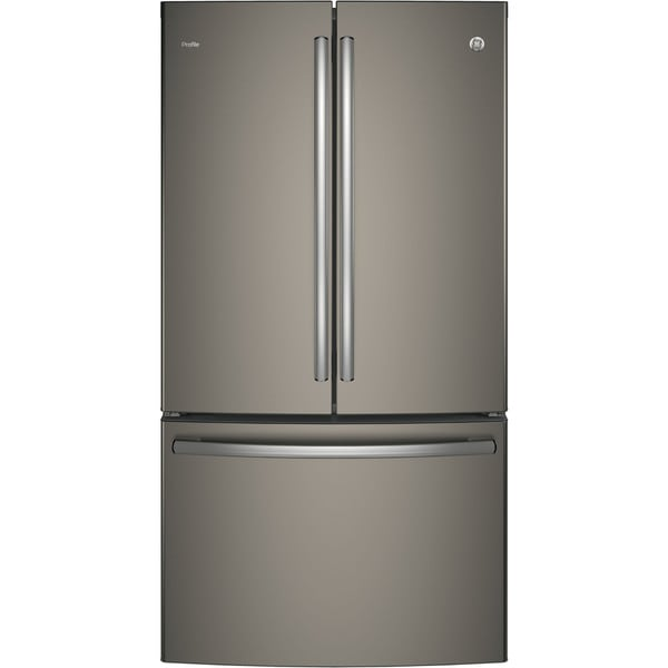 GE - 23.1 Cu. Ft. French Door Counter-Depth Refrigerator - Slate PWE23KMKES