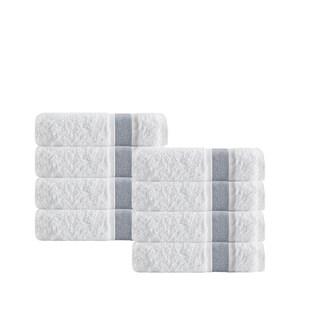 Enchante Home Unique Turkish Cotton Hand Towels (Set of 8) - 16x28 inches