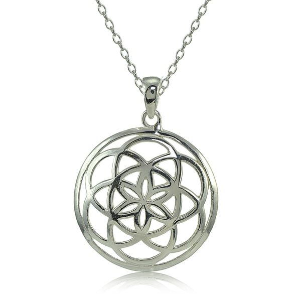 Mondevio Sterling Silver High Polished Celtic Knot Round Necklace 25291233