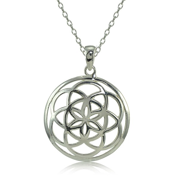 Mondevio Sterling Silver High Polished Celtic Knot Round Necklace 25291235