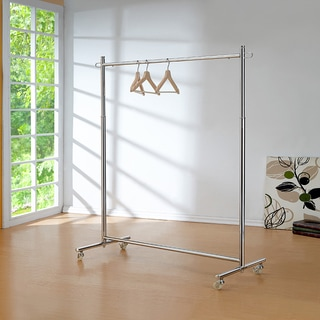 "72.5""H CHROME GARMENT RACK"