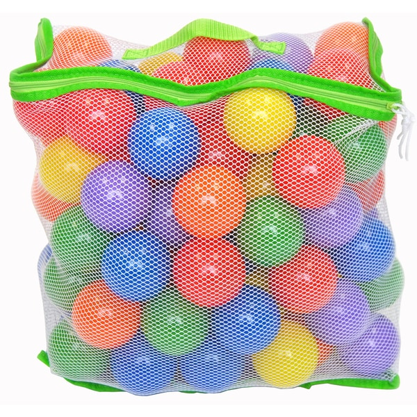 100 Wonder Playball Non-Toxic Crush Proof Quality Balls w/ Mesh Tote 25291763