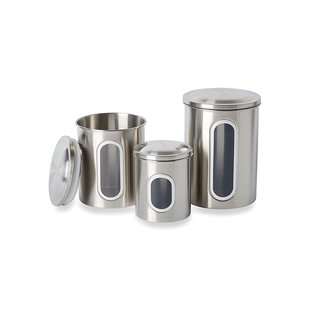 Stainless Steel Canister Set, 3-Piece - 6103