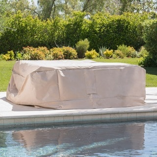 Shield Outdoor Waterproof Fabric Chat Set Patio Cover by Christopher Knight Home