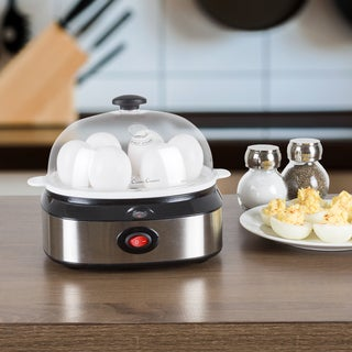 Multi-Function Electric Egg Cooker with 7 Egg Capacity and Automatic Shut Off by Classic Cuisine