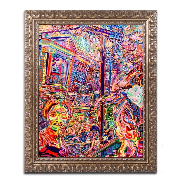 Josh Byer 'Rose' Ornate Framed Art 25323842