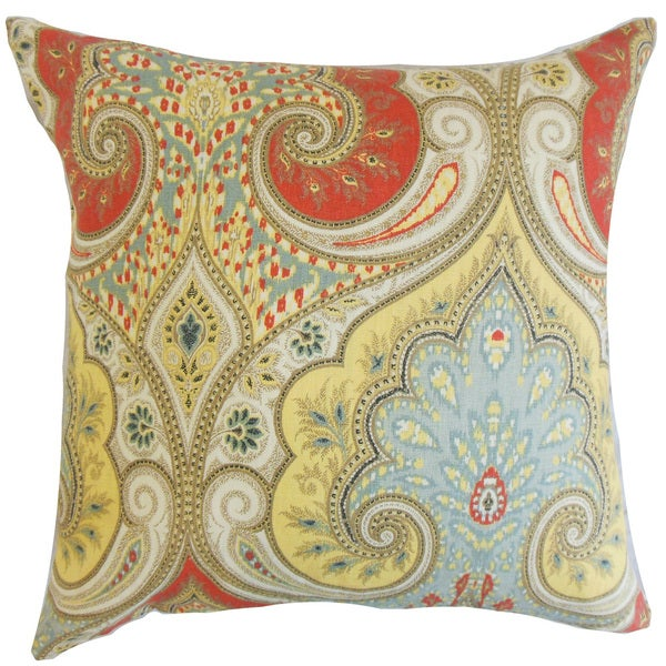 Kirrily Damask 22-inch Down Feather Throw Pillow Festival 25358177
