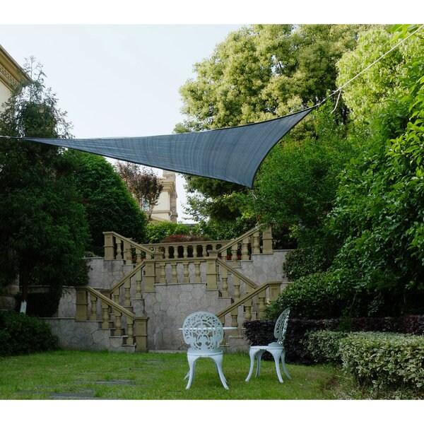 Cool Area Triangle 11 Feet 5 Inches Sun Shade Sail, UV Block Fabric Sail Perfect for Outdoor Patio Gardenin Color Graphite 25360386