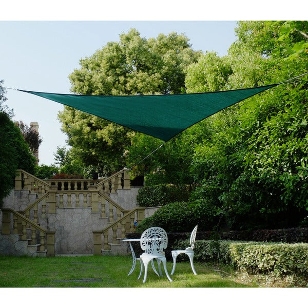 Cool Area Triangle 11 Feet 5 Inches Sun Shade Sail, UV Block Fabric Sail Perfect for Outdoor Patio Gardenin Color Green 25360388