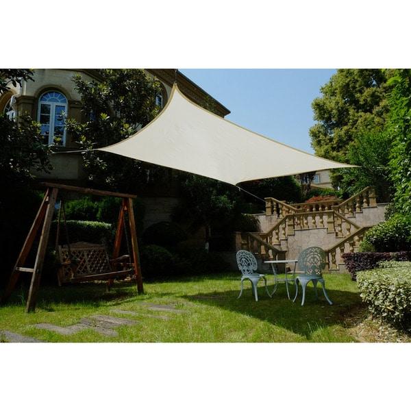 Cool area Square 11 Feet 5 Inches Sun Shade sail, UV Block Patio Sail Perfect for Outdoor Patio Gardenin Color Cream 25360392