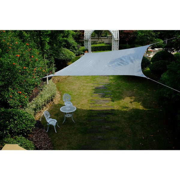 Cool Area Square 16 Feet 5 Inches Sun Shade Sail, UV Block Patio Sail Perfect for Outdoor Patio Gardenin Color Silvery 25360395