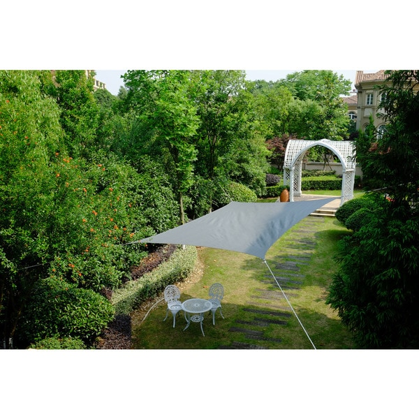 Cool Area Square 16 Feet 5 Inches Sun Shade Sail, UV Block Patio Sail Perfect for Outdoor Patio Gardenin Color Graphite 25360397