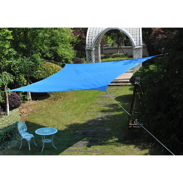 Cool Area Square 16 Feet 5 Inches Sun Shade Sail, UV Block Patio Sail Perfect for Outdoor Patio Gardenin Color Blue 25360399