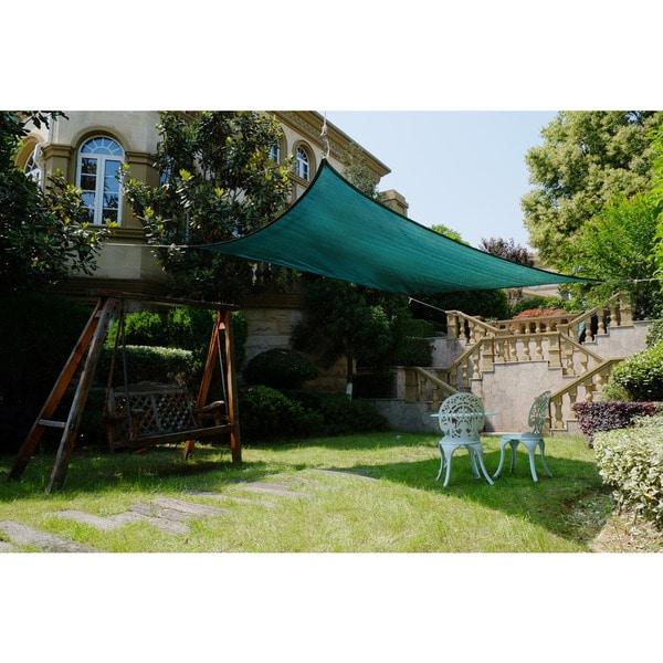 Cool Area Square 16 Feet 5 Inches Sun Shade Sail, UV Block Patio Sail Perfect for Outdoor Patio Gardenin Color Green 25360400