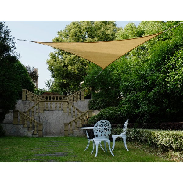"""Cool Area Right Triangle 16'5"""" Sun Shade Sail for Patio in Color Sand 25360402"""