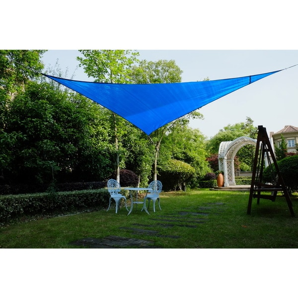 "Cool Area Right Triangle 16'5"" Sun Shade Sail for Patio in Color Blue 25360728"