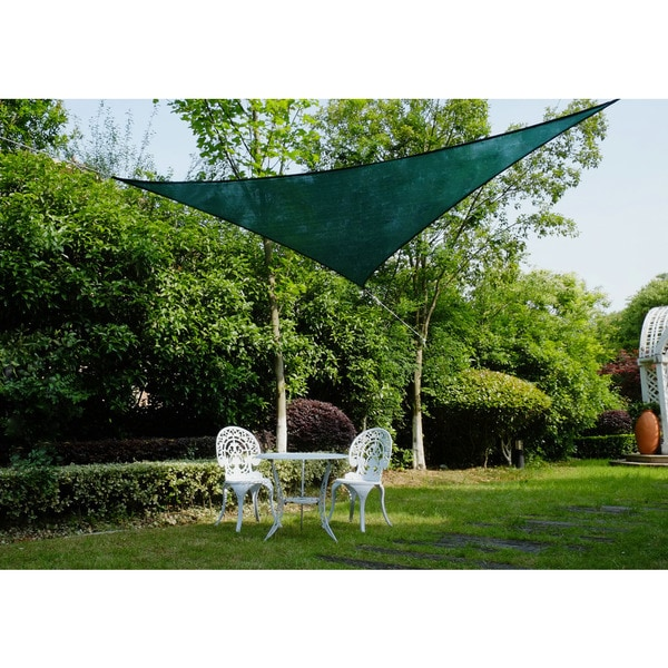 "Cool Area Right Triangle 16'5"" Sun Shade Sail for Patio in Color Green 25360743"