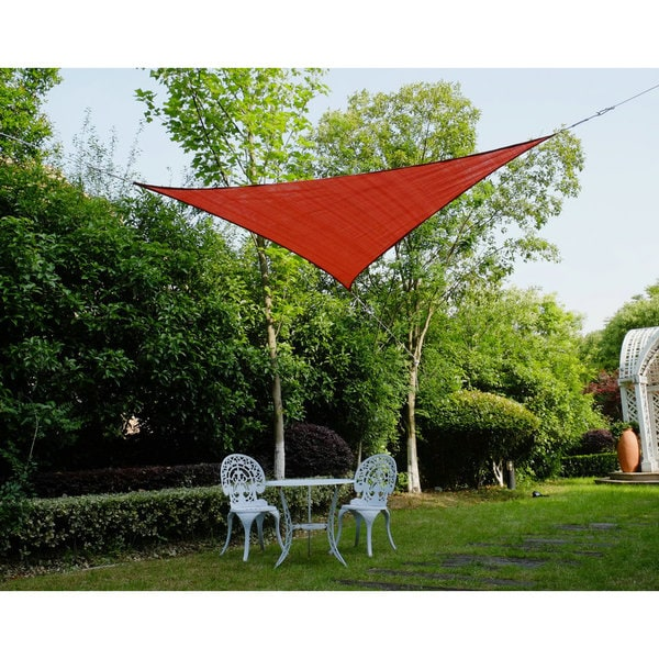 "Cool Area Right Triangle 16'5"" Sun Shade Sail for Patio in Color Terra 25360752"