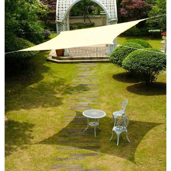 "Cool Area Rectangle 9'10"" X 13' Sun Shade Sail, UV Block Patio Sail Perfect For Outdoor Patio Gardenin Color Sand 25360761"