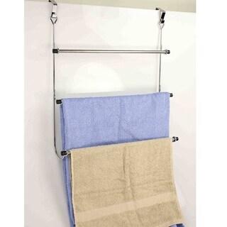 3 Tier Over The Door Towel Rack- Chrome