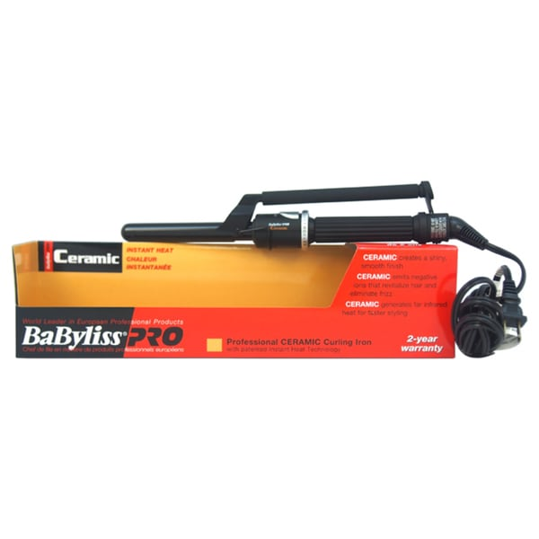 BaByliss PRO Ceramic Black Professional Curling Iron (As Is Item) 25367234