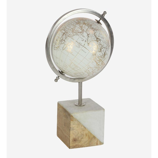 Benzara Globe with Wood/Marble Stand 25383549