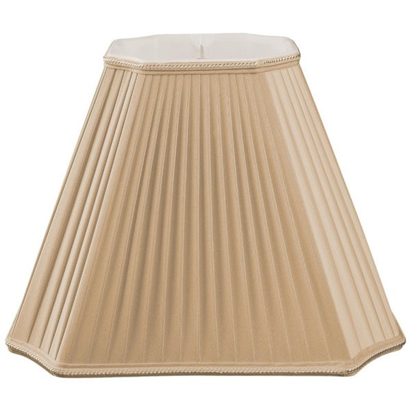 Royal Designs Inverted Cut Corner Pleated Designer Lamp Shade, Antique Gold, 7 x 15 x 11.5 25384645