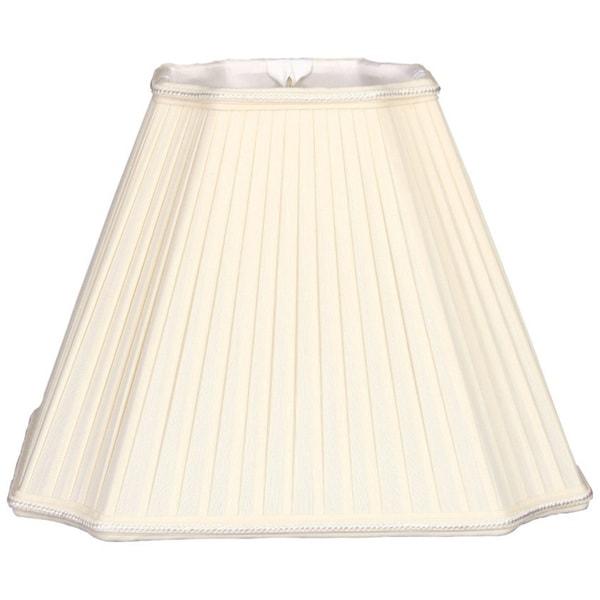Royal Designs Inverted Cut Corner Pleated Designer Lamp Shade, Eggshell, 6.5 x 13.5 x 10.5 25384648