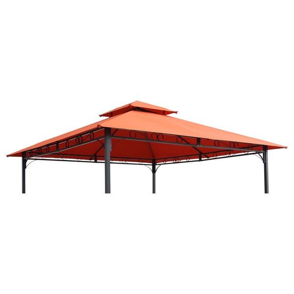 International Caravan St. Kitts Replacement Canopy for 10 ft. Canopy Gazebo in Cranberry(As Is Item) 25384690