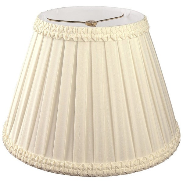 Royal Designs Pleated Square with Top Gallery Designer Lamp Shade, Beige, 9 x 16 x 11.5 25384760