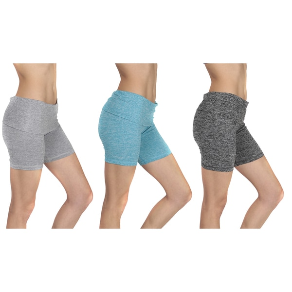 Women's Mesh Waistband Yoga Shorts 25385312