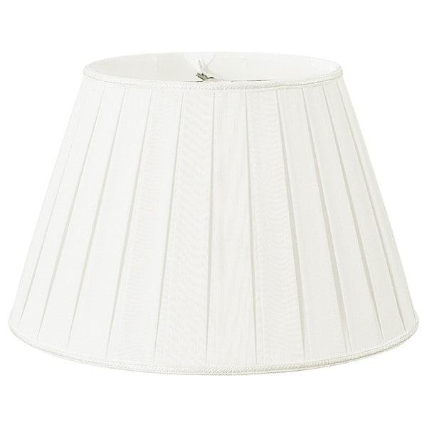 Royal Designs Round Pleated Designer Lamp Shade, White, 11 x 18 x 12 25385573