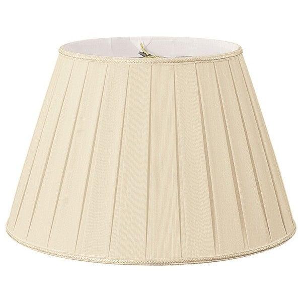 Royal Designs Round Pleated Designer Lamp Shade, Beige, 11 x 18 x 12 25385578