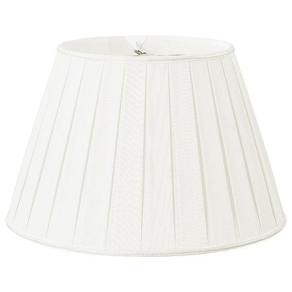 Royal Designs Round Pleated Designer Lamp Shade, White, 10.5 x 16 x 11 25385579