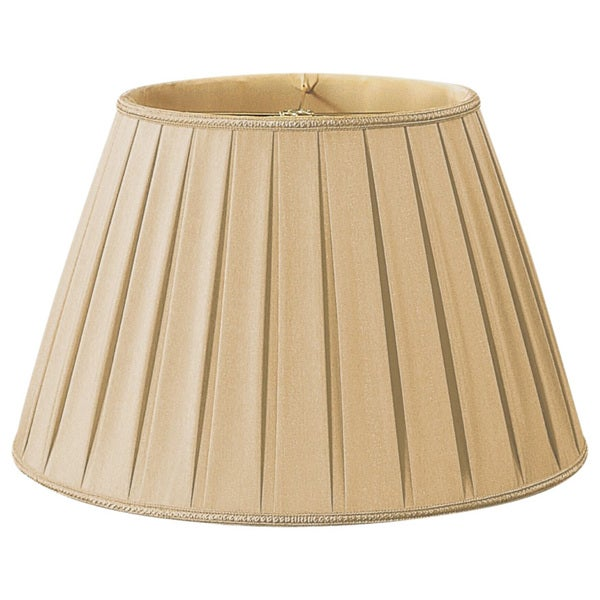 Royal Designs Round Pleated Designer Lamp Shade, Gypsy Gold, 10.5 x 16 x 11 25385590